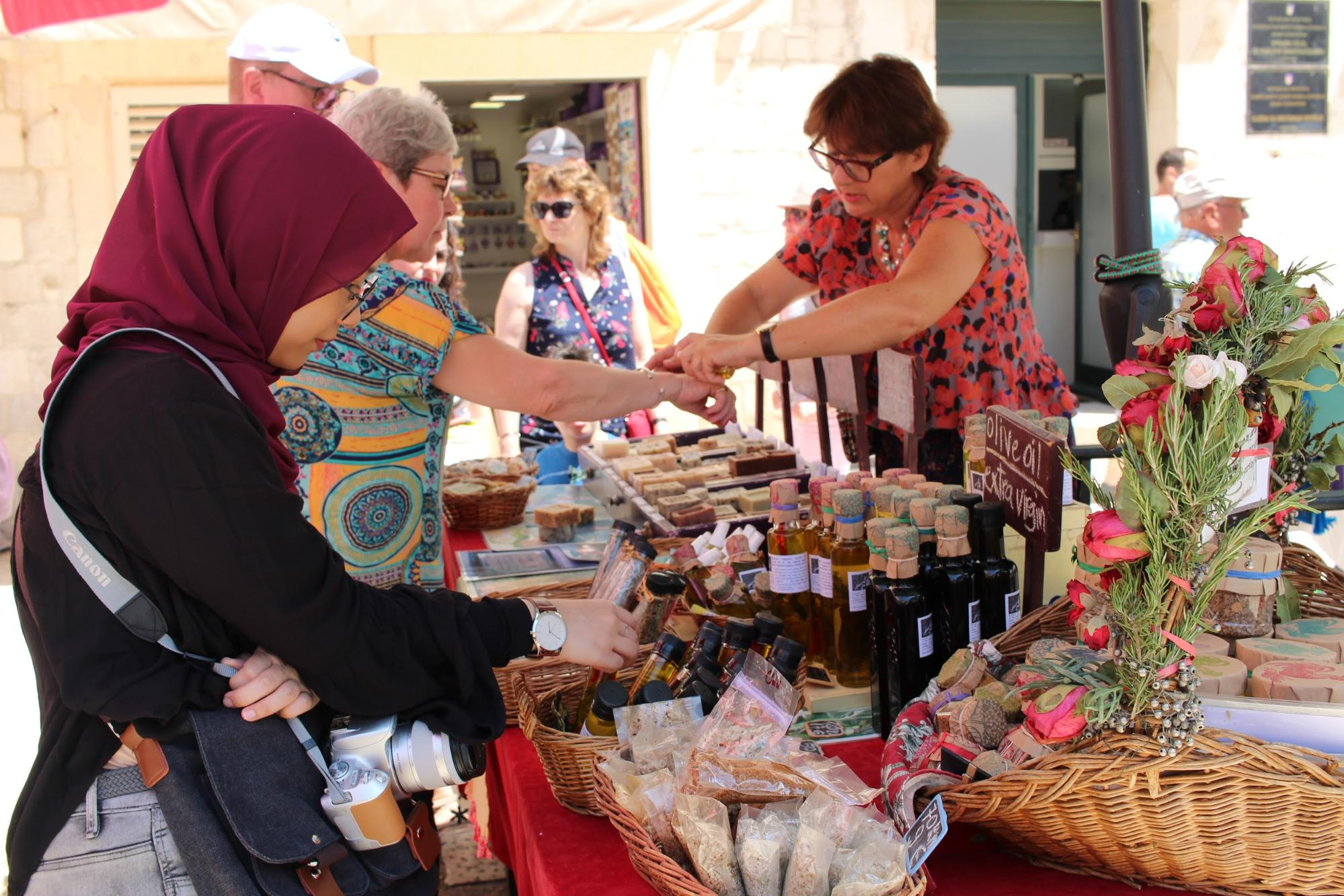 Sunday market Dubrovnik Croatia